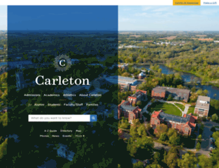 apps.carleton.edu screenshot