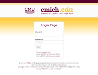 apps.cmich.edu screenshot