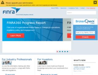 apps.finra.org screenshot