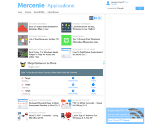 apps.mercenie.com screenshot