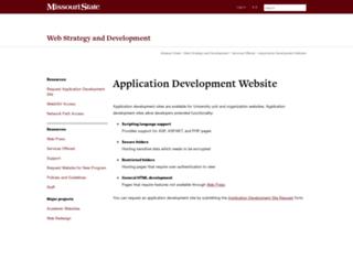 apps.missouristate.edu screenshot