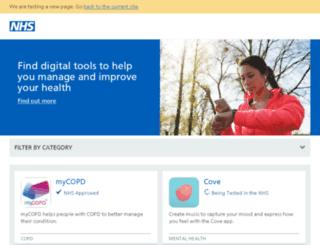 apps.nhs.uk screenshot