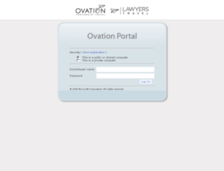 apps.ovationtravel.com screenshot