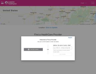 apps.superiorhealthplan.com screenshot