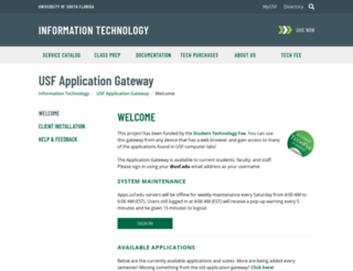 Access apps usf edu  USF Application Gateway