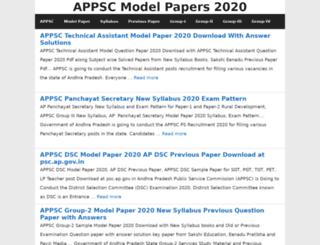 appscmodelpapers.in screenshot