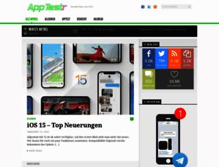 apptestr.de screenshot