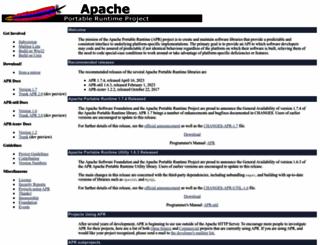 apr.apache.org screenshot
