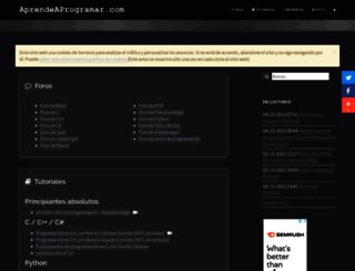 aprendeaprogramar.com screenshot