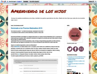 aprendiendodeloshijos.blogspot.com.es screenshot