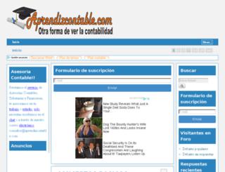 aprendizcontable.com screenshot