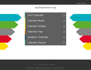 aprilcalendar.org screenshot