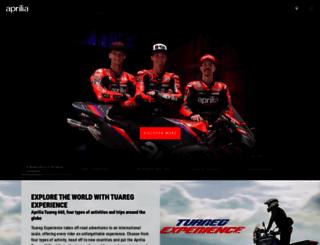 aprilia.com screenshot