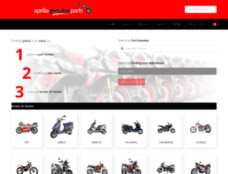 apriliagenuineparts.co.uk screenshot
