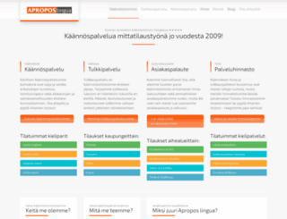 aproposlingua.fi screenshot
