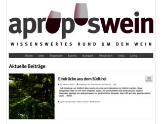 aproposwein.ch screenshot