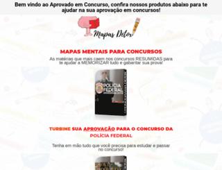 aprovadoemconcurso.com screenshot