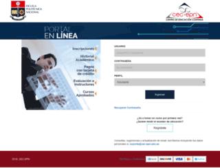 aps.cec-epn.edu.ec screenshot