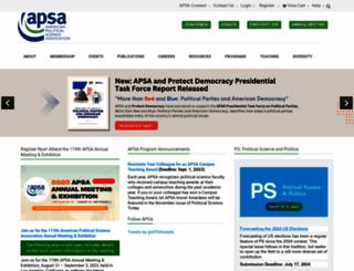 apsanet.org screenshot