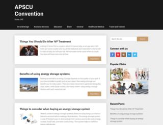 apscuconvention.org screenshot