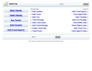 apsrtc.org screenshot