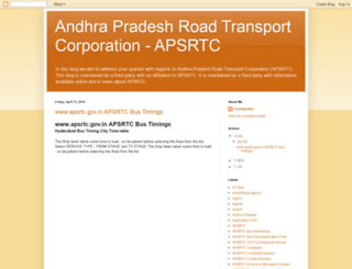 apsrtc.the-hyderabad.com screenshot