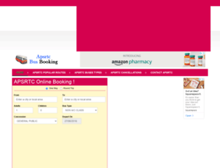 apsrtcbusbooking.com screenshot