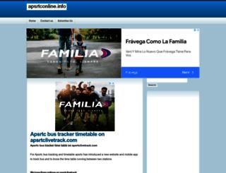 apsrtconline.info screenshot