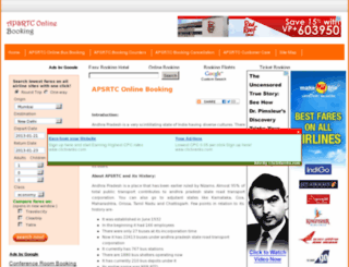 apsrtconlinebooking.info screenshot