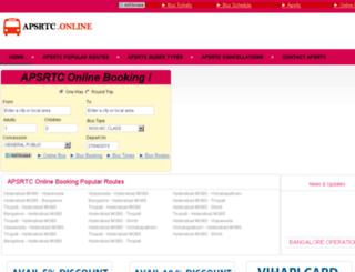 apsrtconlinebookings.com screenshot