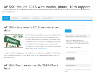 apsscresults2016.in screenshot