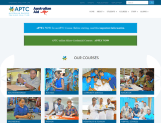 aptc.edu.au screenshot