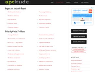 aptitude.students3k.com screenshot