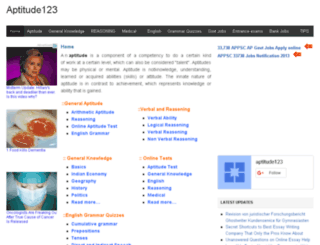 aptitude123.com screenshot