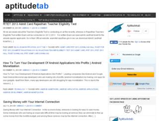 aptitudetab.com screenshot