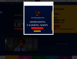 apws.edu.in screenshot