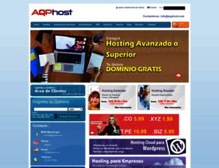 aqphost.com screenshot