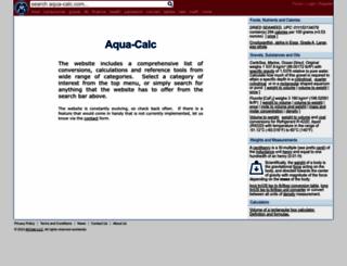 aqua-calc.com screenshot