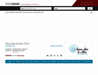 aqua-spa.thinklocal.co.za screenshot