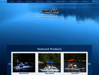 aquacycleusa.com screenshot