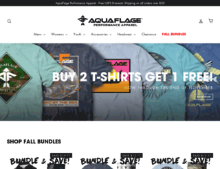 aquaflauge.com screenshot