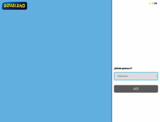 aqualand.es screenshot