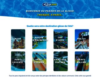 aqualand.fr screenshot