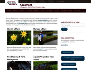 aquaplant.tamu.edu screenshot
