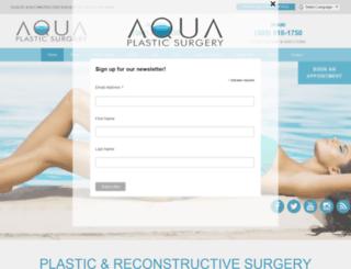 aquaplasticsurgery.com screenshot
