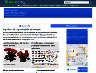 aquaportail.com screenshot
