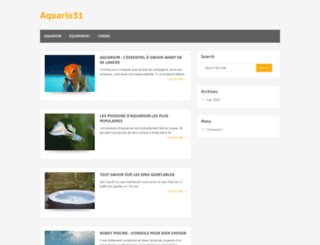 aquario31.fr screenshot