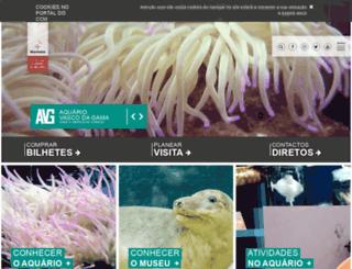 aquariovgama.marinha.pt screenshot