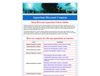aquariumcoupons.com screenshot