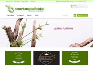 aquariumplantfood.co.uk screenshot